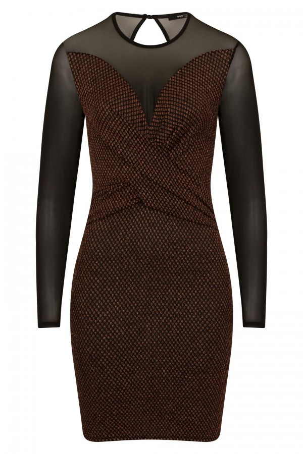 TFNC Martina Copper Mini Dress