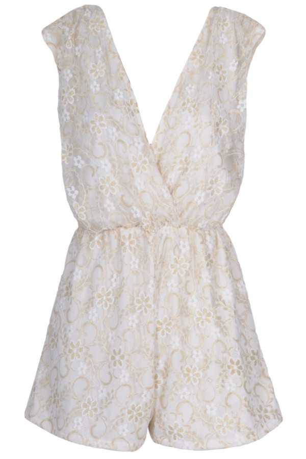 TFNC Zina Lace Playsuit