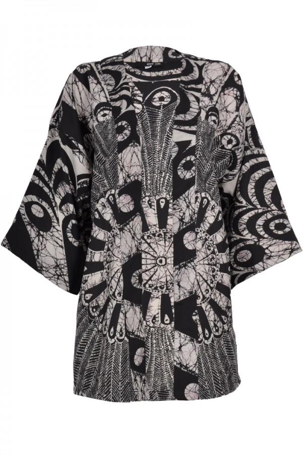 TFNC Swirl Abstract Print Kimono