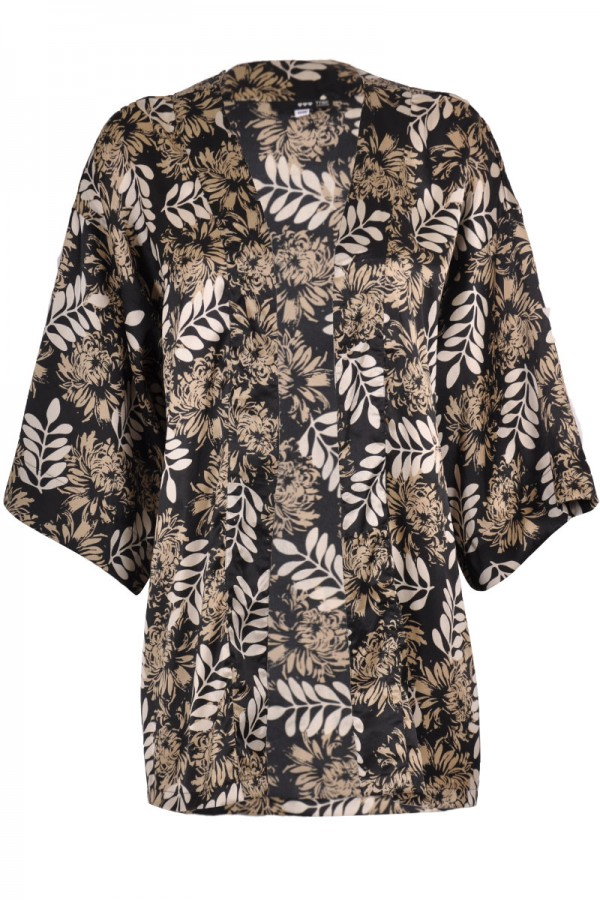TFNC Leaf Print Kimono