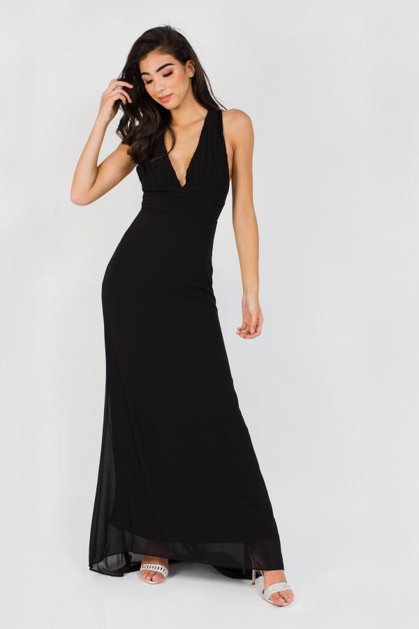 TFNC Tasya Black Maxi Dress