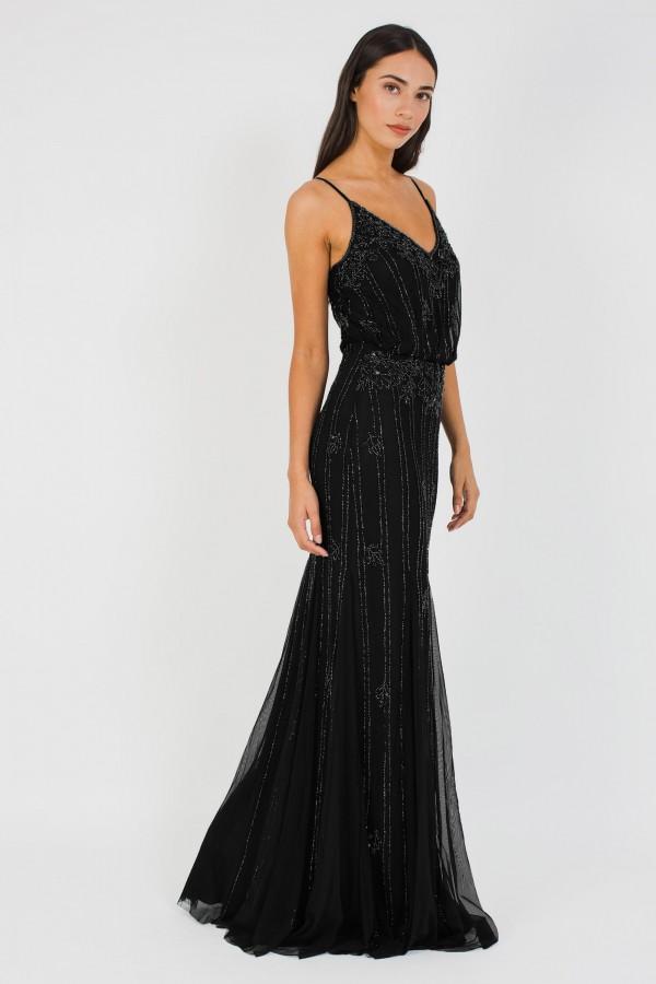 Lace & Beads Keeva Black Maxi Dress