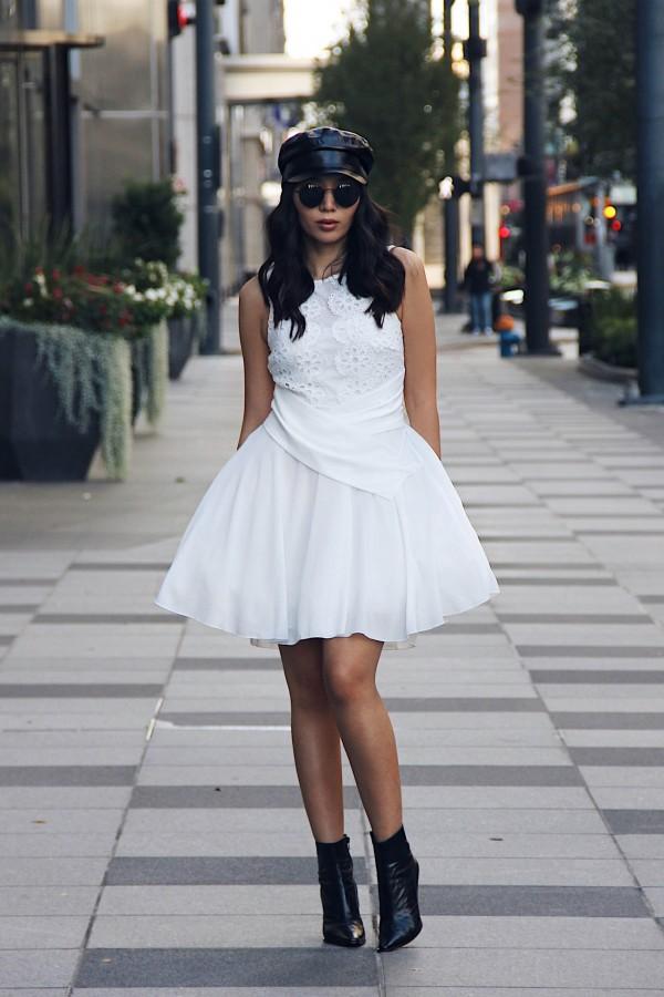TFNC Miky White Dress