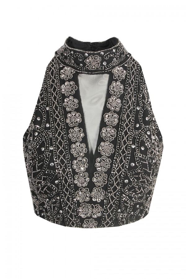 Lace & Beads Twilight Black Top