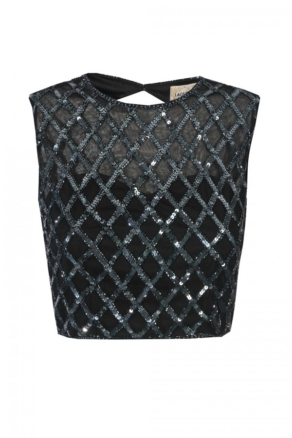 Lace & Beads Carmella Black Top
