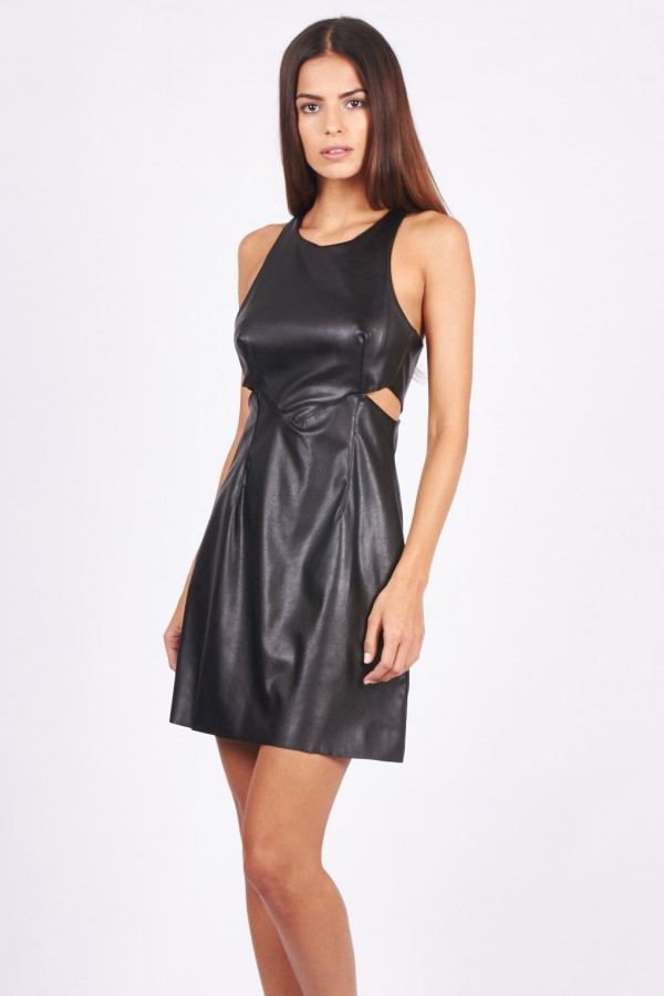 TFNC Robe Monica PVC Black Dress