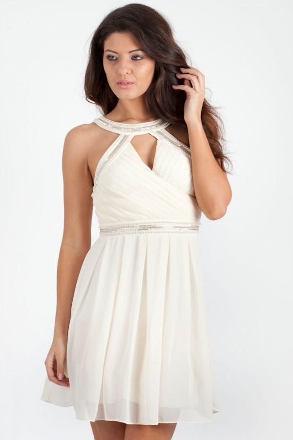 TFNC Katie Embellished Halter Dress