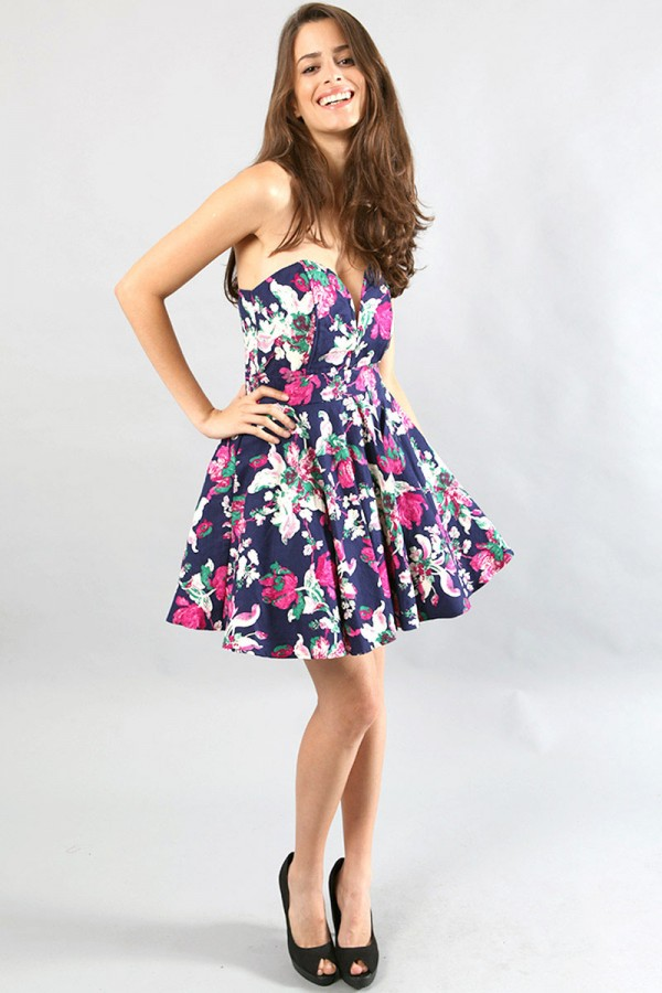 TFNC Gerry Floral Bandeau Dress