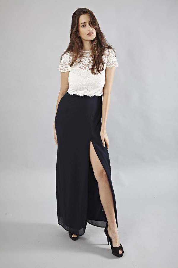 Lace & Beads Jackie Lace Maxi Dress