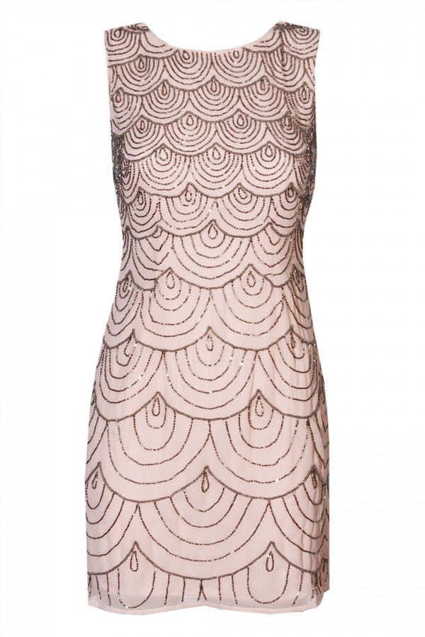 Lace & Beads Katlyn Nude Embellished Dress