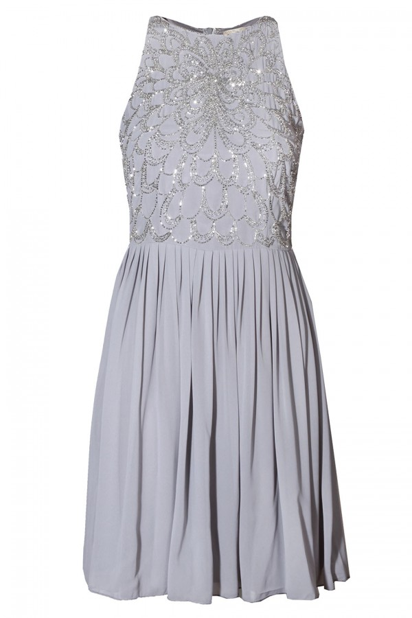 Lace & Beads Abliene Grey Dress