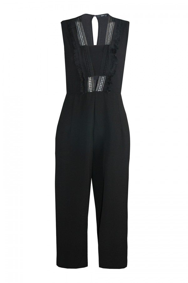 TFNC Yua Black Jumpsuit