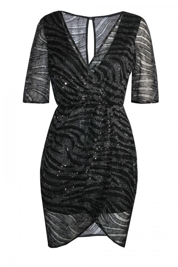TFNC Gin Black Sequin Dress