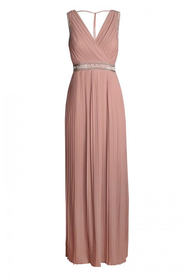 TFNC Linda Taupe Maxi Dress
