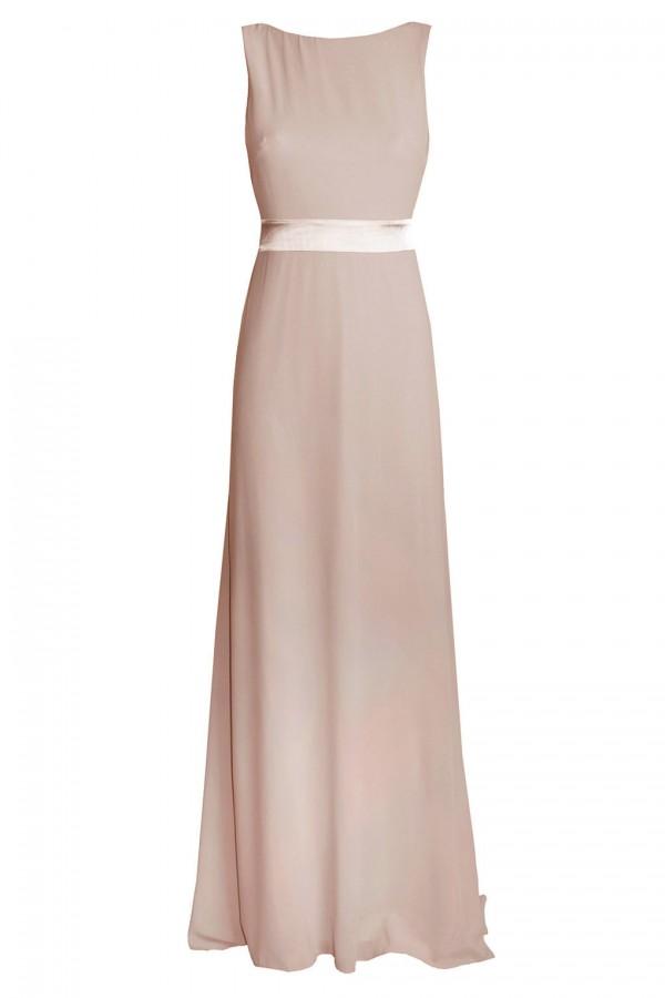 TFNC Halannah Taupe Maxi Dress