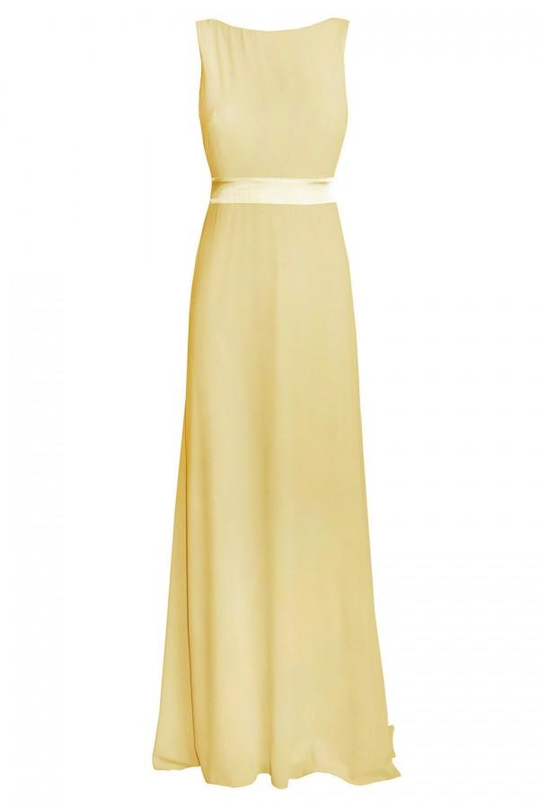 TFNC Halannah Yellow Maxi Dress