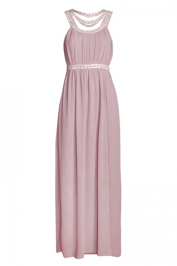 TFNC Helana Pink Maxi Embellished Dress