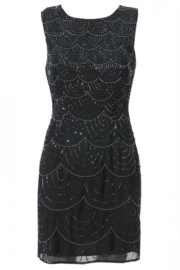 Lace & Beads Katyln Navy Embellished Dress