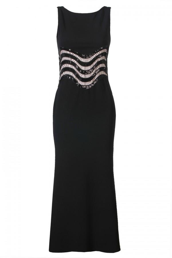 TFNC Nitsa Black Maxi Dress
