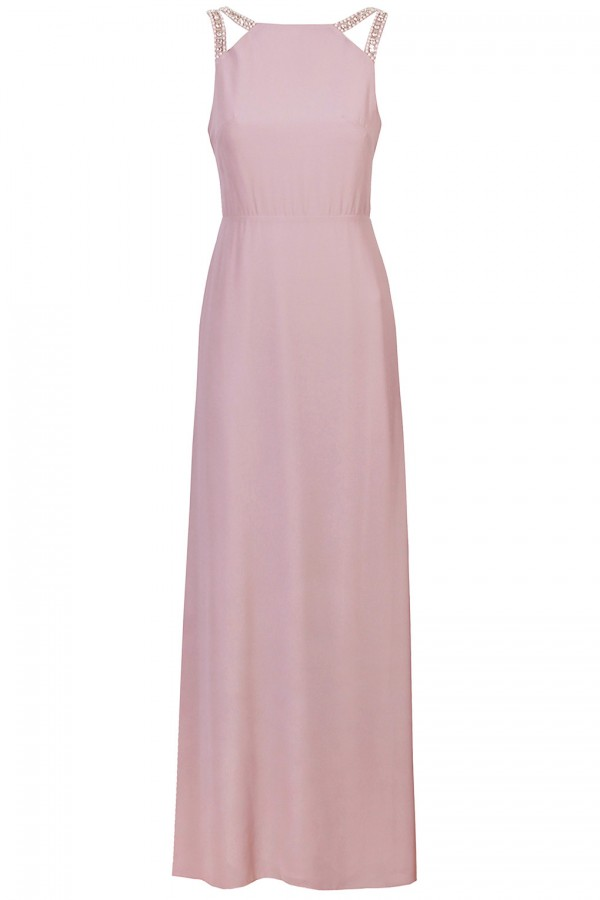 TFNC Riva Pink Maxi Embellished Dress