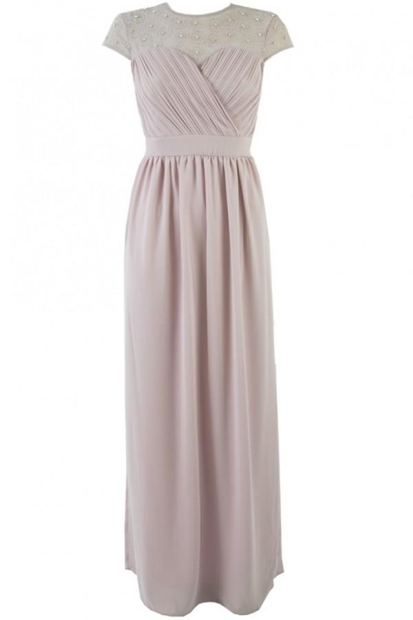 TFNC Janka Microchip Grey Maxi Dress