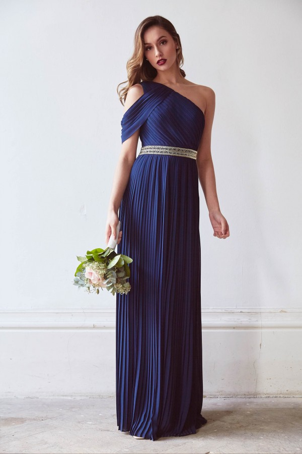 TFNC Jovie Navy Maxi Dress
