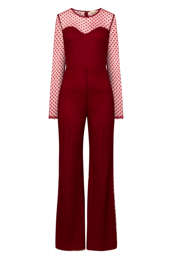 Lace & Beads Lolita Red Jumpsuit