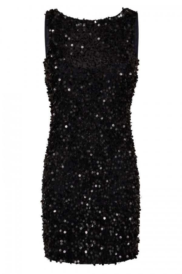 Lace & Beads Mahir Navy Sequin Mini Dress