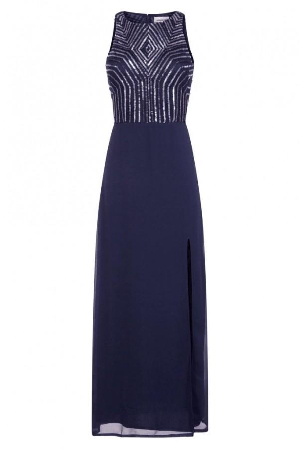 Lace & Beads Adelina Navy Maxi Dress