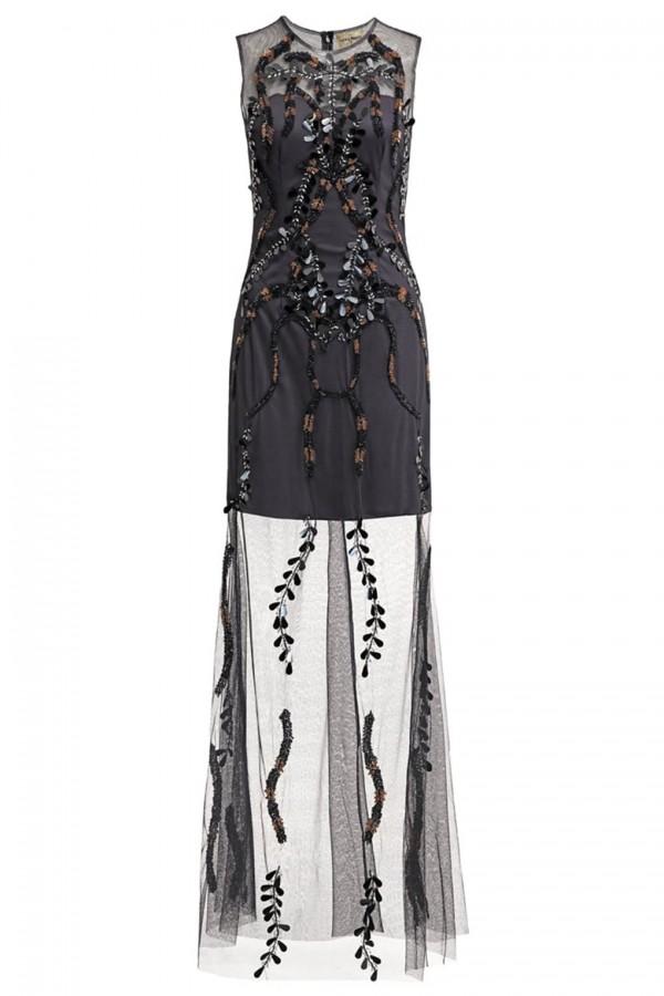 Lace & Beads Roma Navy Maxi Dress