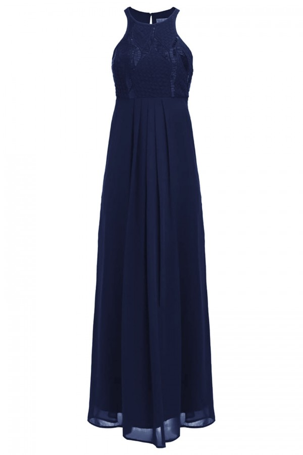 Lace & Beads Elanor Navy Maxi Dress