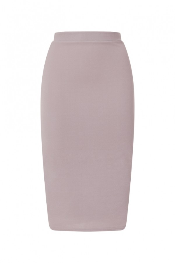 TFNC Rika Grey Midi Skirt