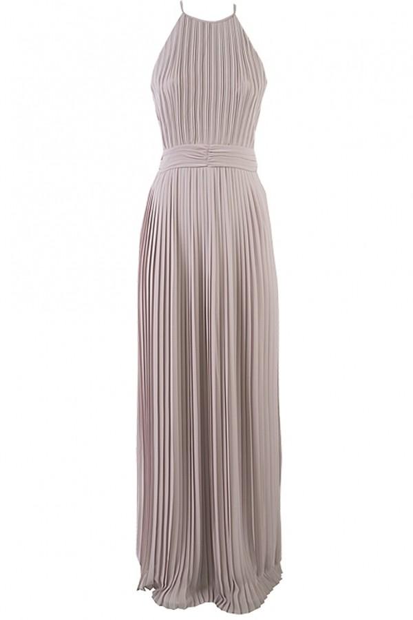 TFNC Serene Microchip Grey Maxi Dress
