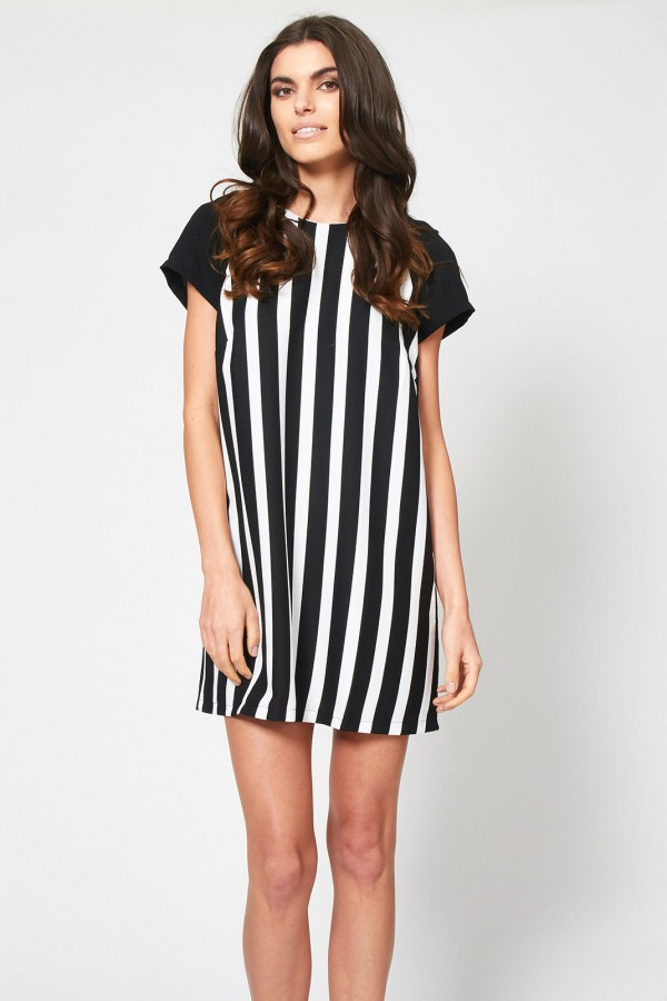TFNC Nika Stripe Shift Dress