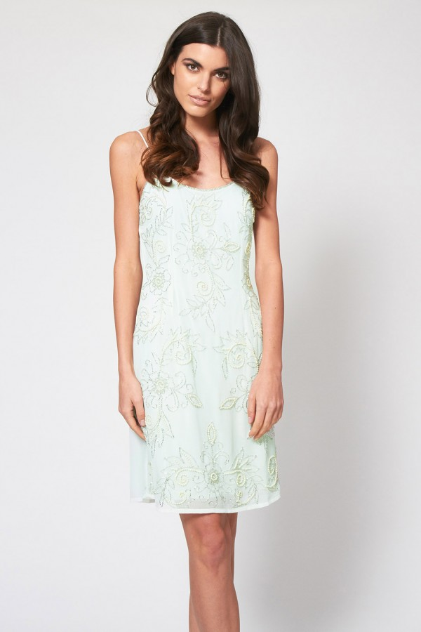 Lace & Beads Fair Mint Embellished Dress