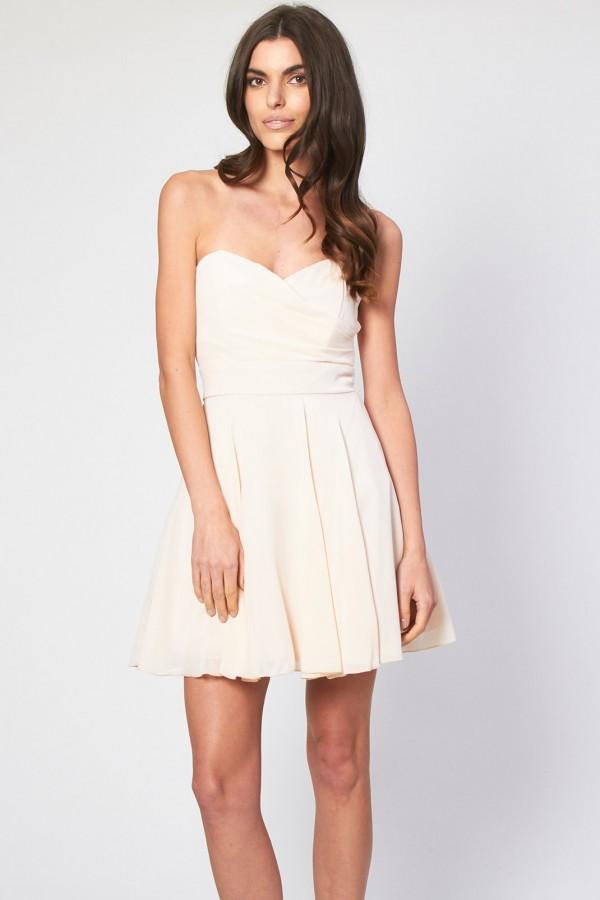 TFNC Minnie Nude Bandeau Dress
