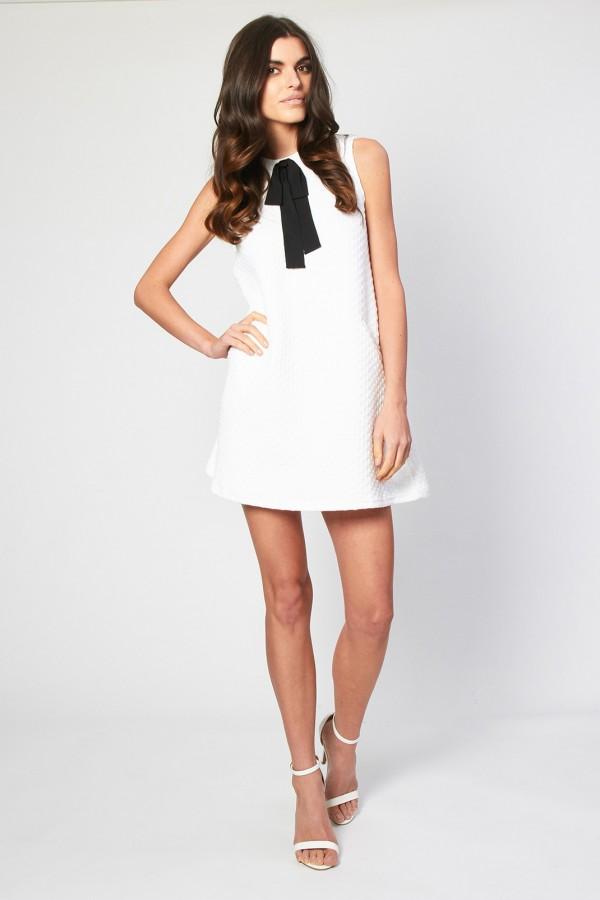 TFNC Milia White Bow Dress