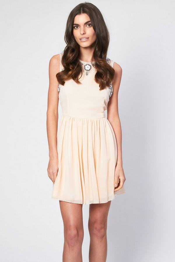 Lace & Beads Becky Pink Dress