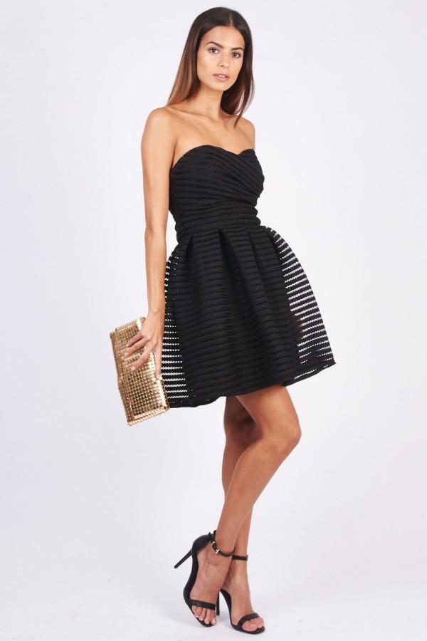 TFNC Charlee Black Bandeau Dress