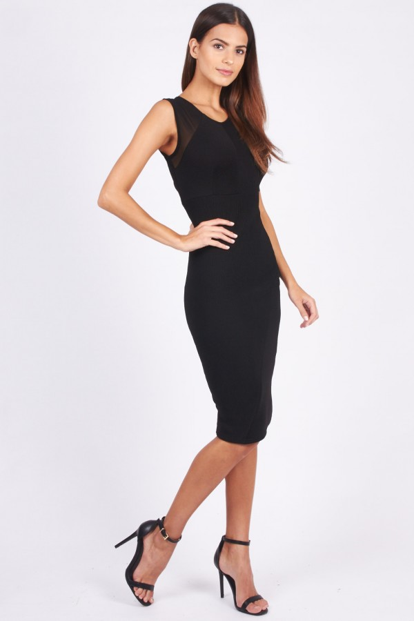 TFNC Marbella Black Midi Dress