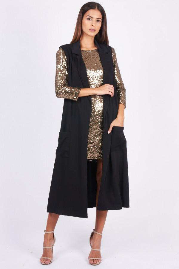 TFNC Katey Black Waistcoat