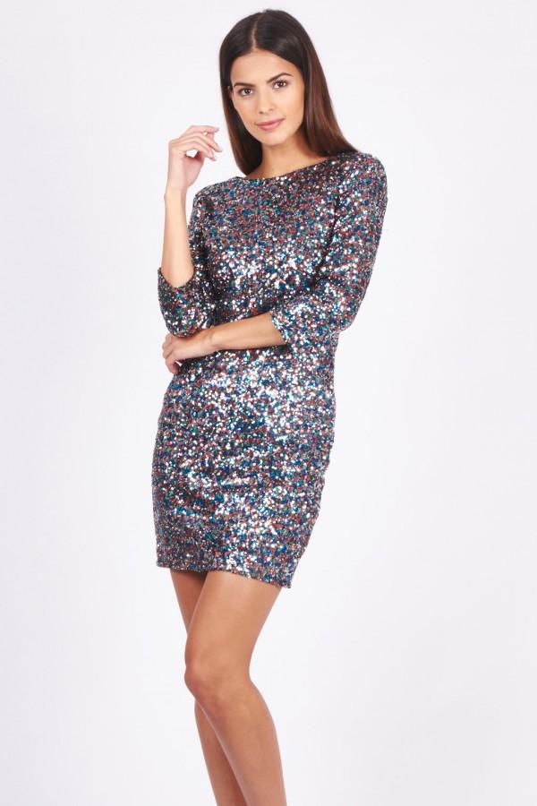 TFNC Paris Multi Sequin Dress