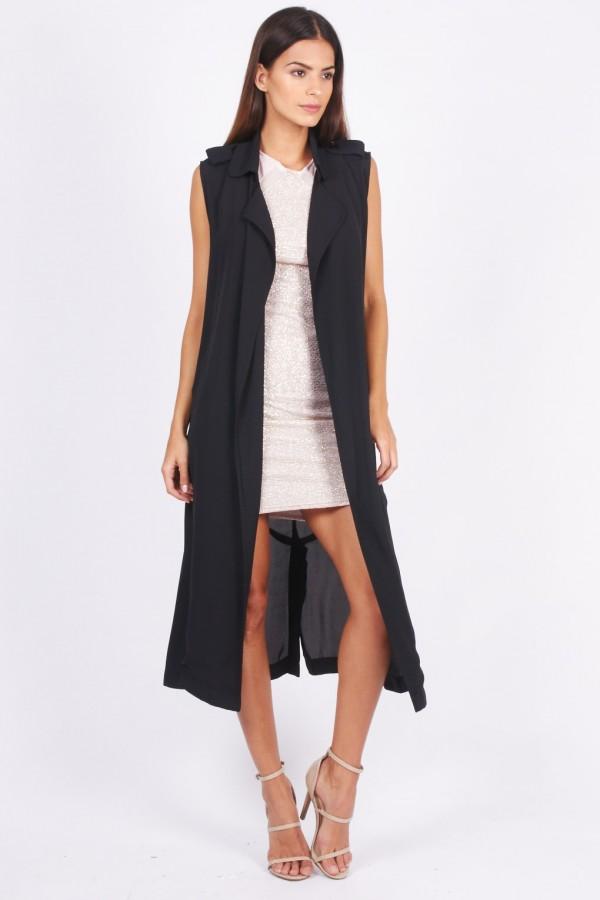 TFNC Eve Black Waistcoat