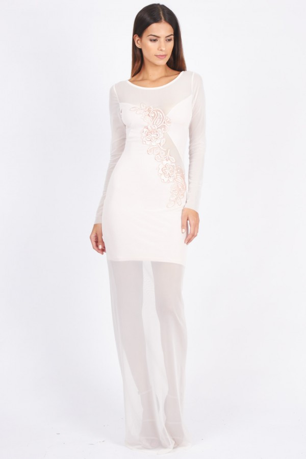 TFNC Rachel Pink Maxi Dress