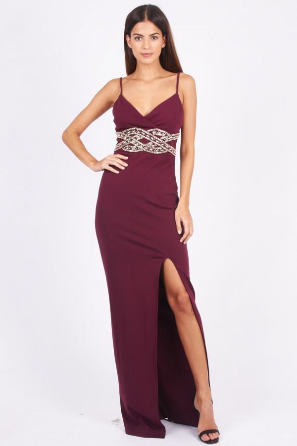TFNC Madalena Wine Maxi Dress