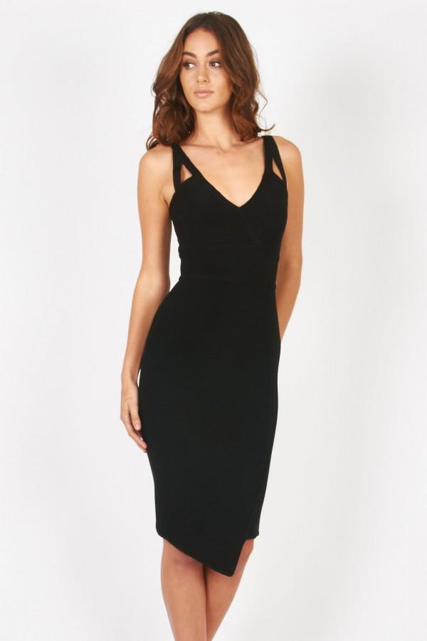 TFNC Kris Black Bandage Dress