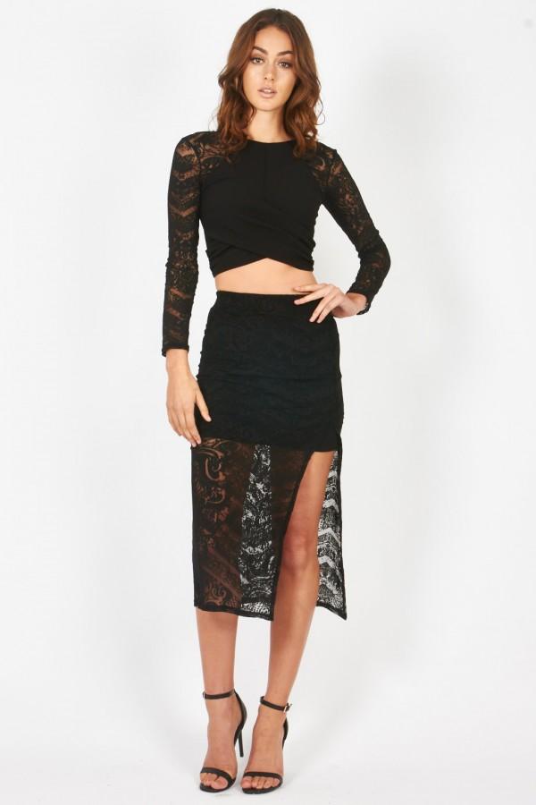 TFNC Marina Black Skirt