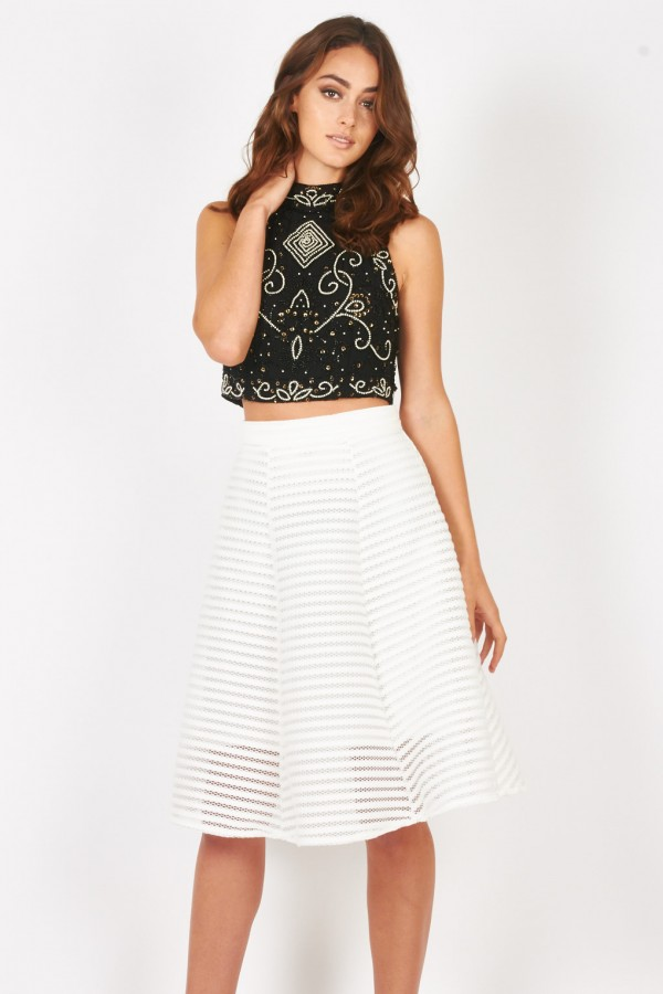 Lace & Beads Paula Black Top