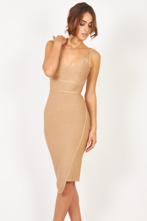 TFNC Kris Nude Bandage Dress