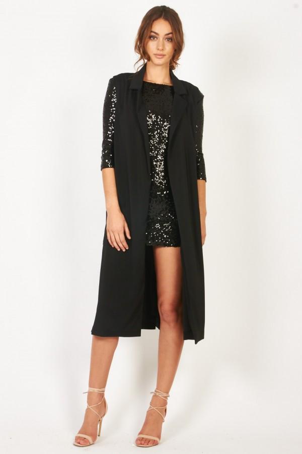 TFNC Tasha Black Waistcoat